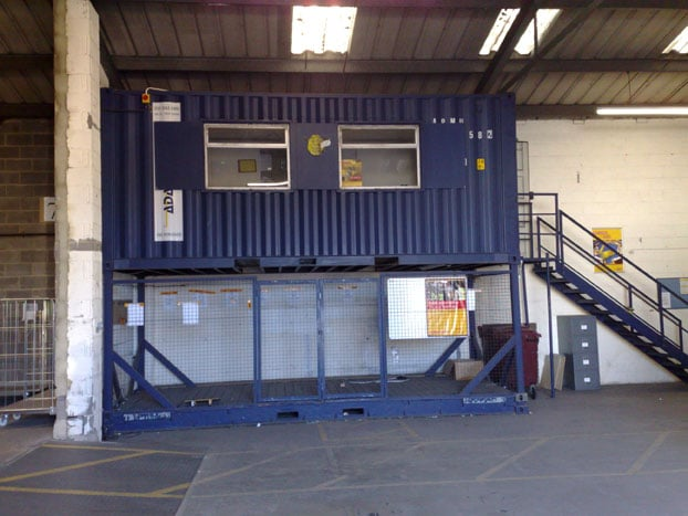 20ft container office conversion adaptainer. Black Bedroom Furniture Sets. Home Design Ideas