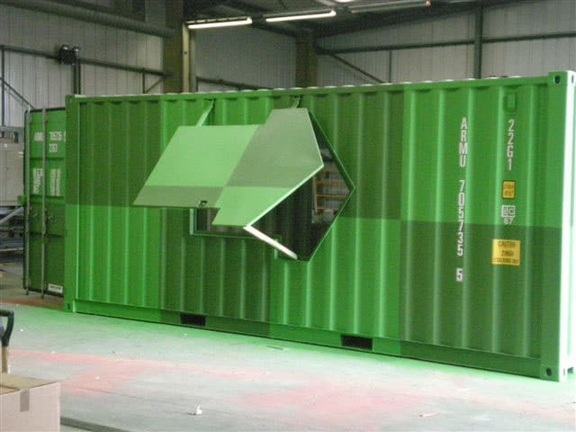 Shipping container ticket office conversion adaptainer - How to convert a shipping container ...