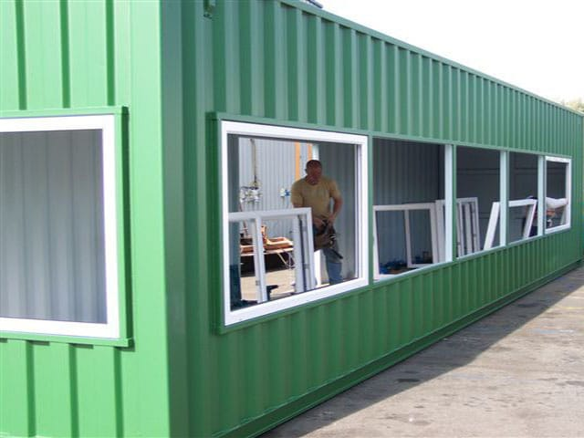 Shipping Container Press Box Conversion Adaptainer