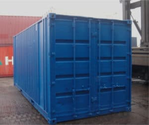 20ft container second hand blue