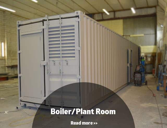 Boiler room container conversion