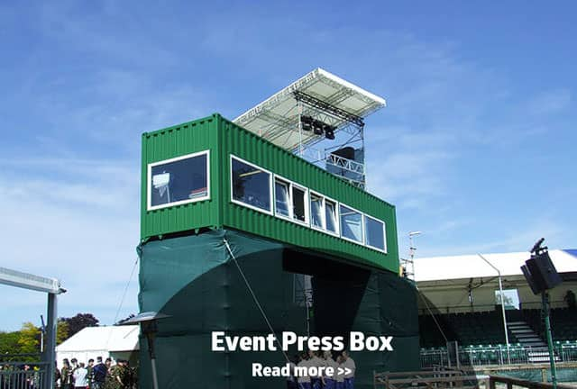 Press box container conversion