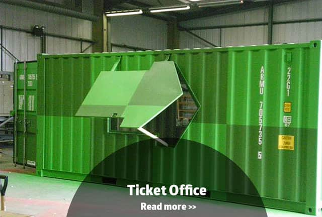 Ticket office container conversion