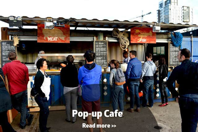 Container cafe conversion