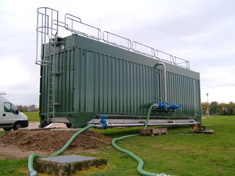 Container custom built for water treatment plant