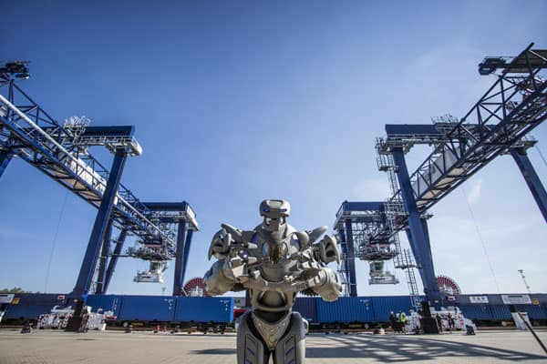 Even Freight Containers Love to Party – Adaptainer Boxes Attend Opening of New Felixstowe Rail Terminal