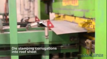 How shipping containers - die stamping roof sheets
