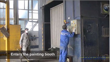 How shipping containers are made - Painting oven