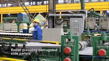 How shipping containers are made - corrugation pressing