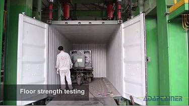 How shipping containers are made - load testing