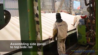How shipping containers are made - assembling top side rail