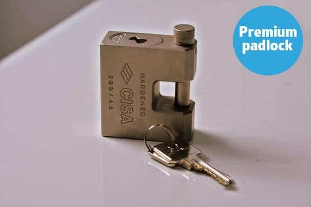 storage container padlock