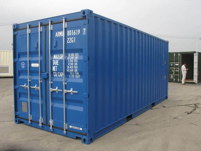 RAL 5010 Blue Shipping Container