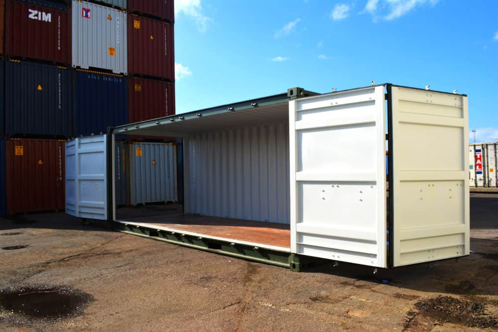 20ft full side access open side container for sale
