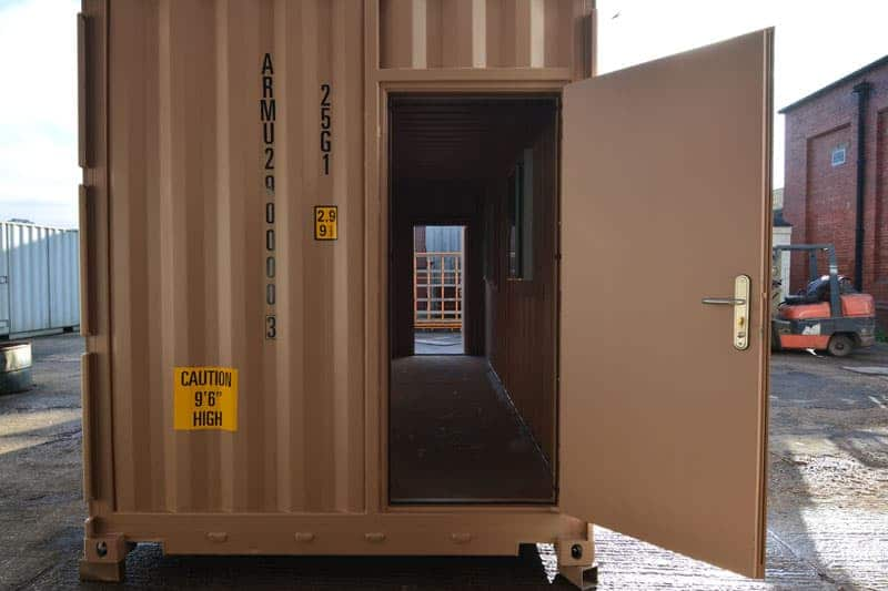 Personnel doors for shipping container