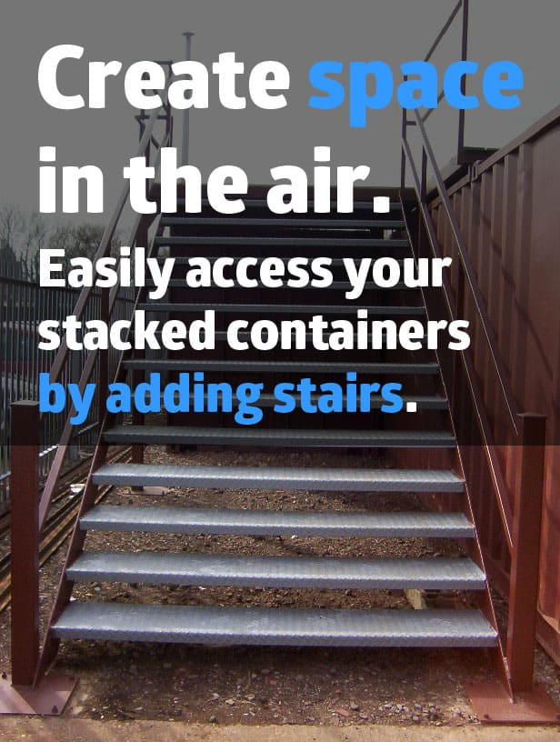 Shipping container stairs for sale UK