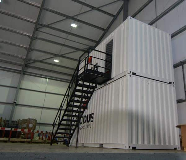 shipping container staircase