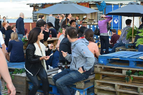 Pop-up shipping container bar