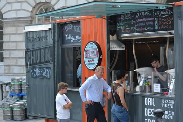 shipping container pop-up cafe