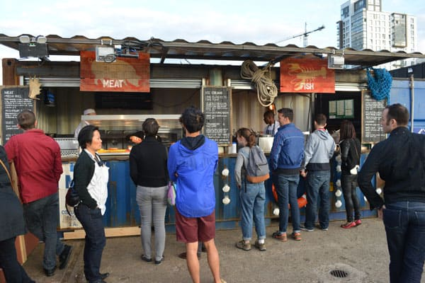 pop up food from shipping container