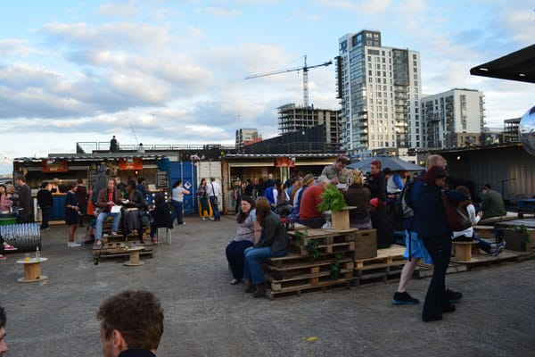 pop up shipping containers event - the boy who climbed out of his face