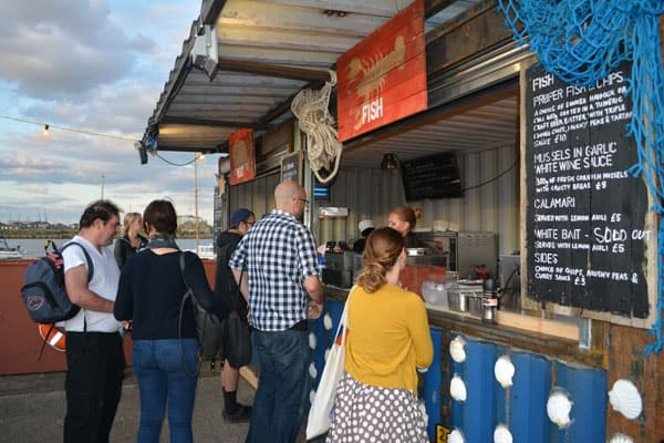 shipping container pop up cafe