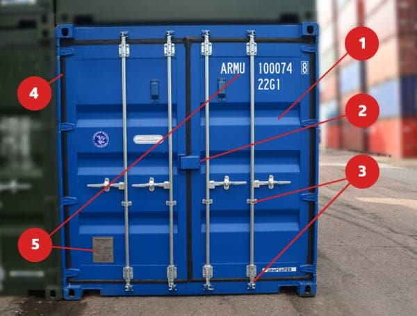 how to open and close a shipping container door