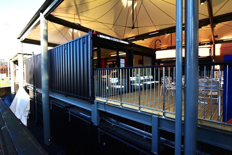 Watford market shipping container mall UK