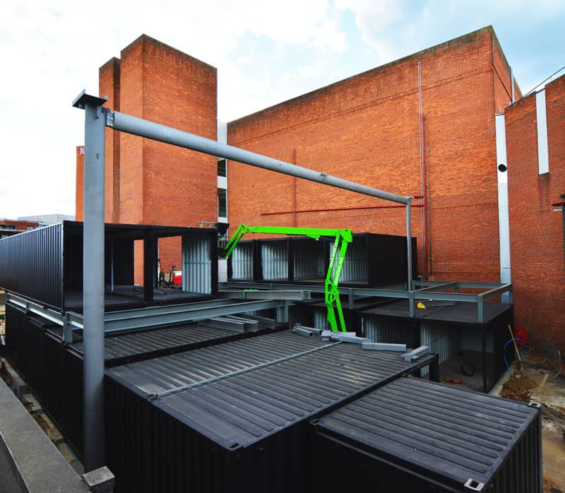 Watford Market shipping container mall construction