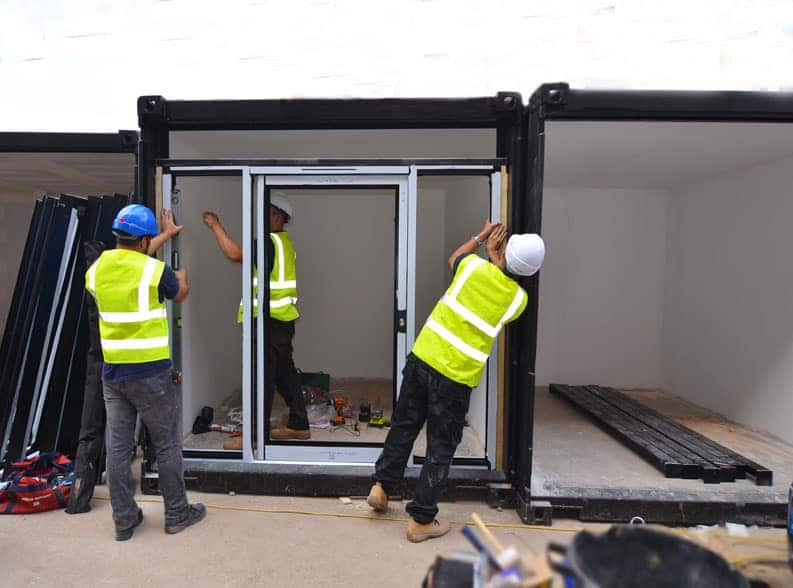 Windows fitted to shipping containers new Watfird Market