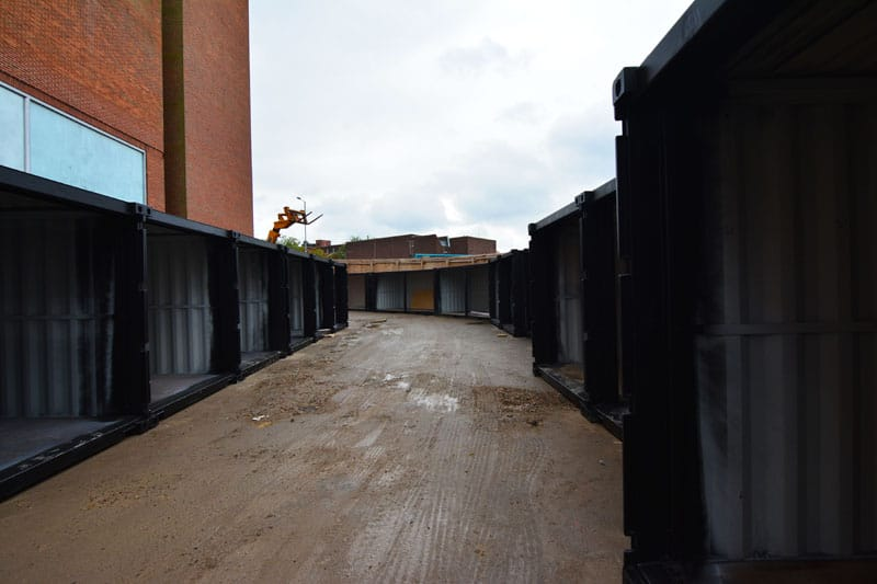 Watford market shipping containers