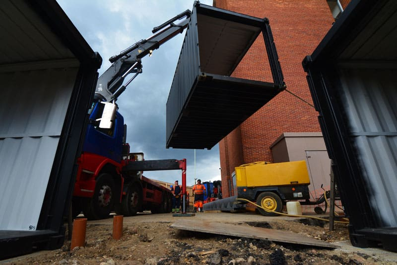 New Watford Market shipping containers delivery