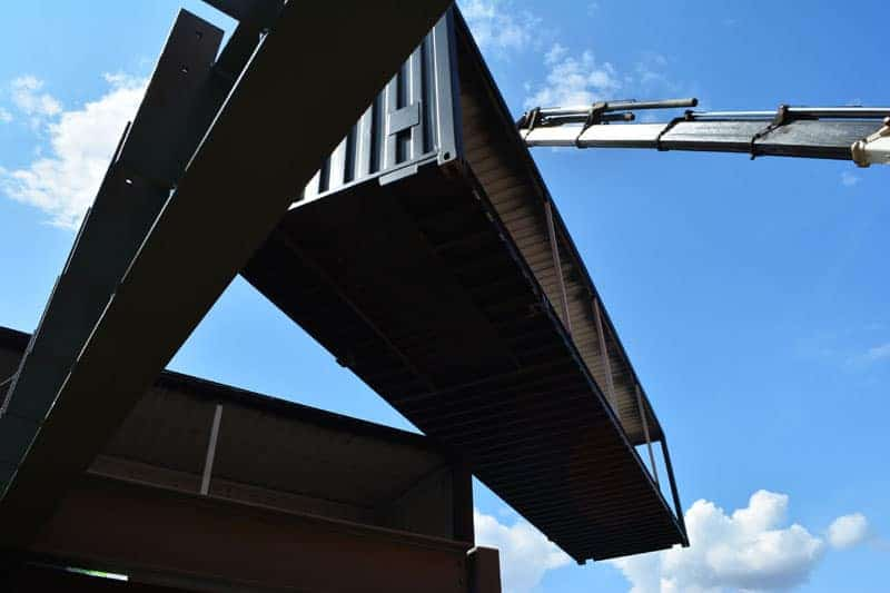 new Watford Market shipping containers delivered
