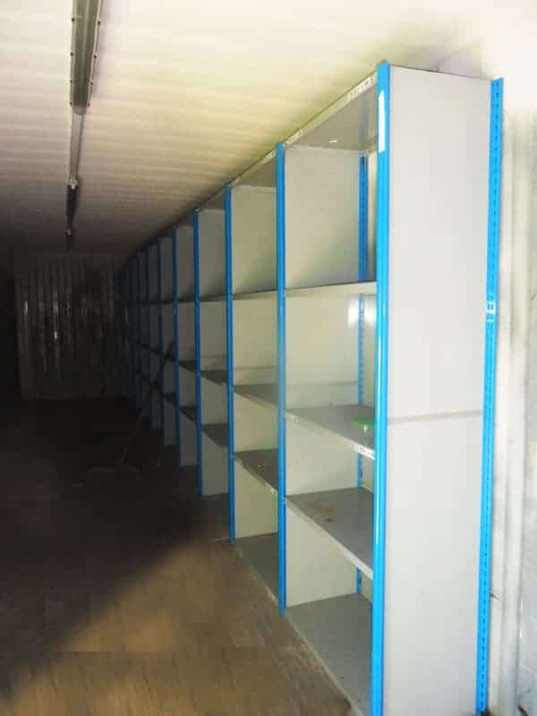 Shipping container shelving system for sale