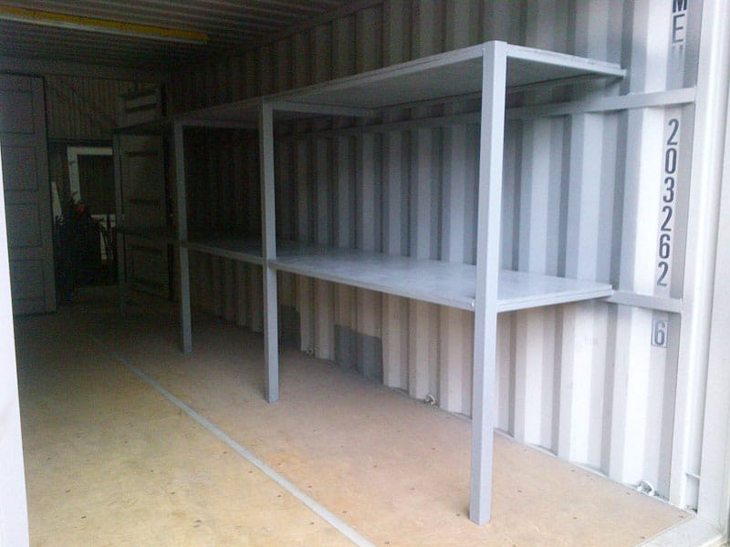 Shipping container shelving for sale