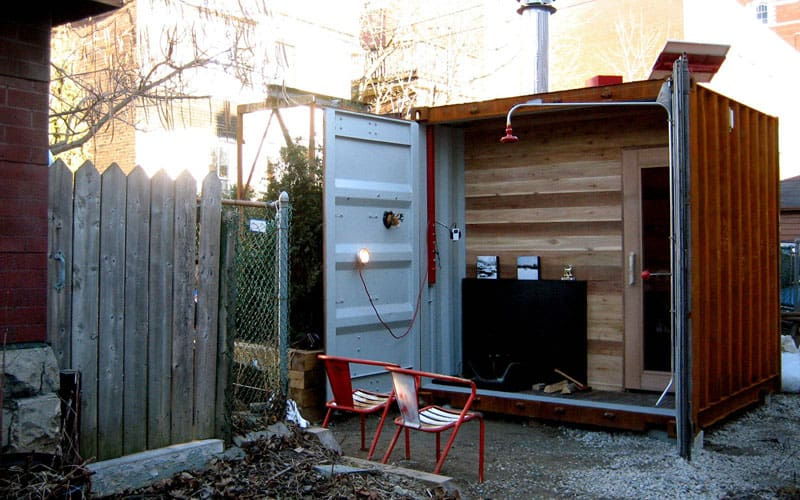 Shipping container sauna SaunaBox