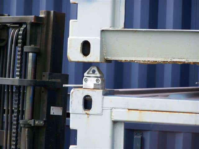 Twistlock for shipping container stacking