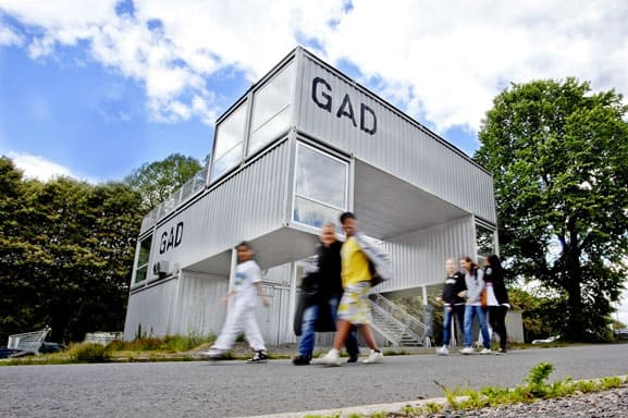 GAD pop-up shipping container building