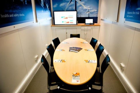 Mobile shipping container meeting room office