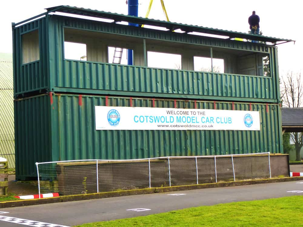 Container conversion racing viewing deck