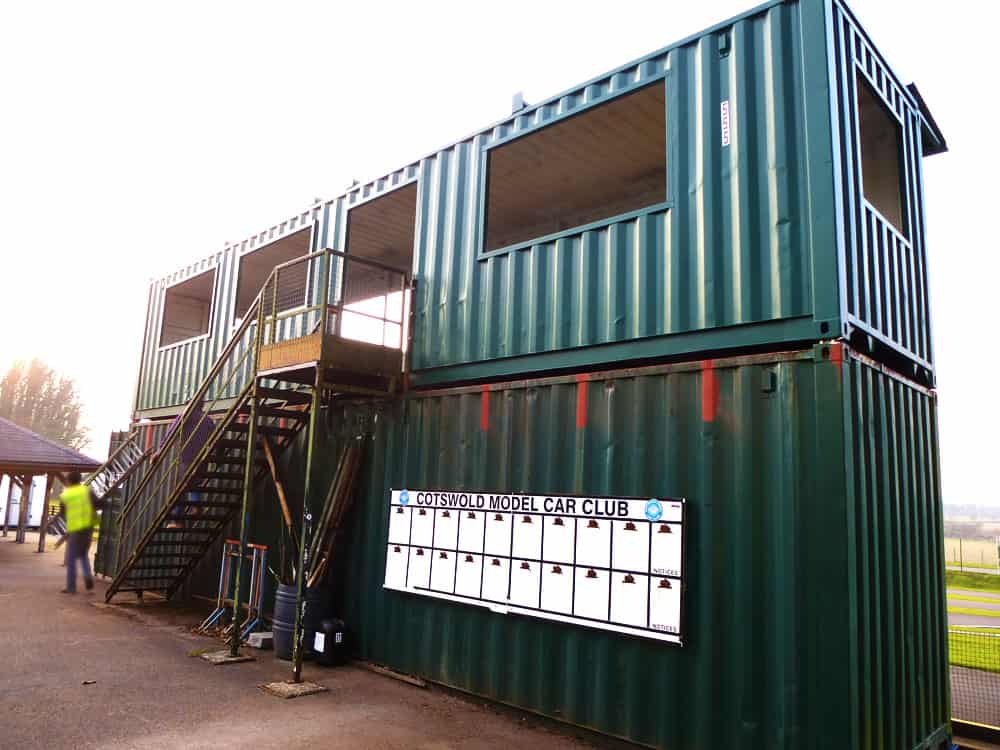 Viewing deck container conversion cotswold model cars staircase