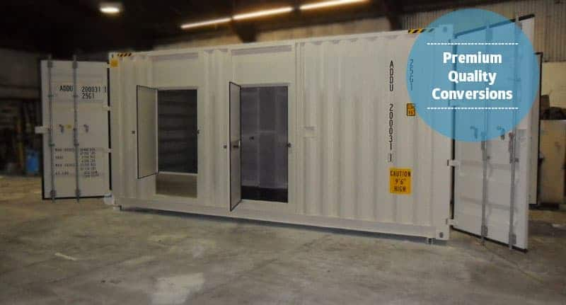 Shipping container generator housing
