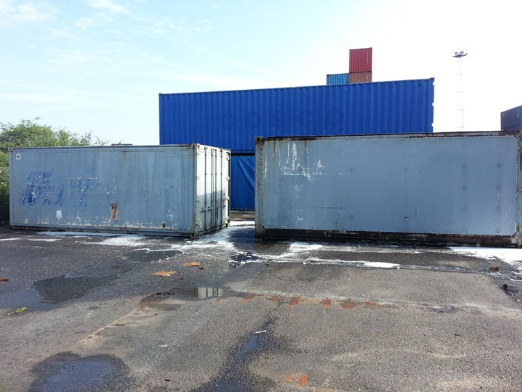 GRP shipping containers