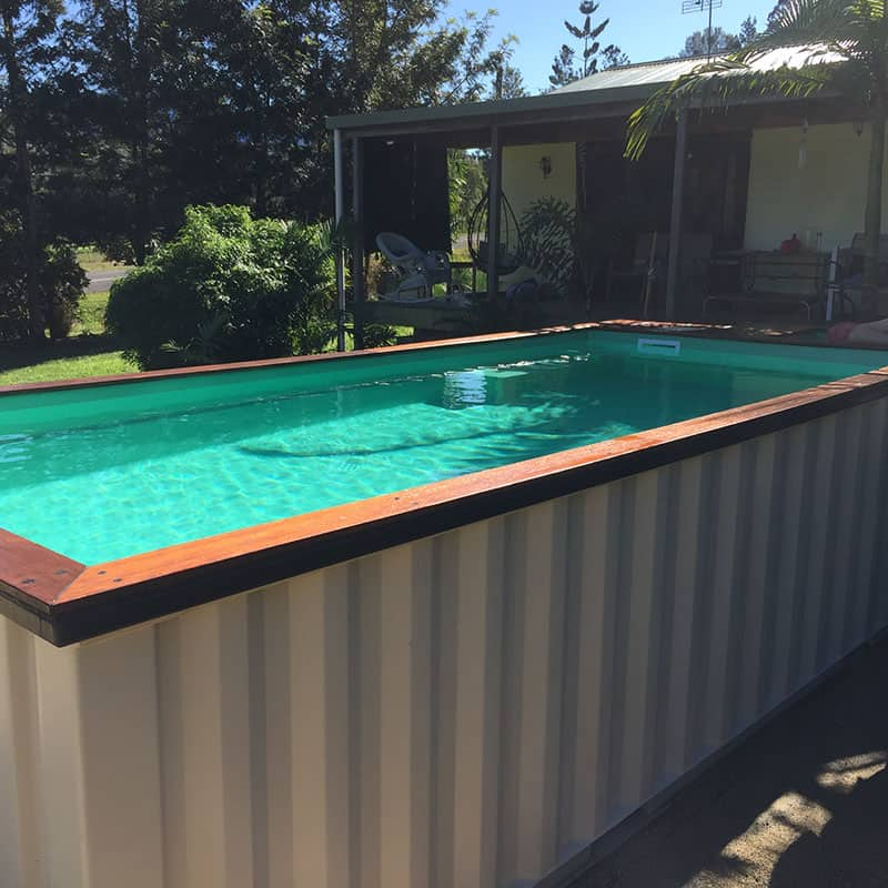 See shipping container swimming pools for sale and price for Piscine orsole