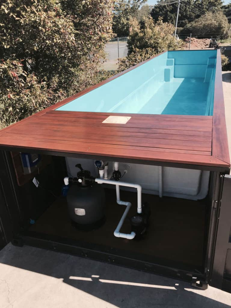 See shipping container swimming pools for sale and price for Piscina container