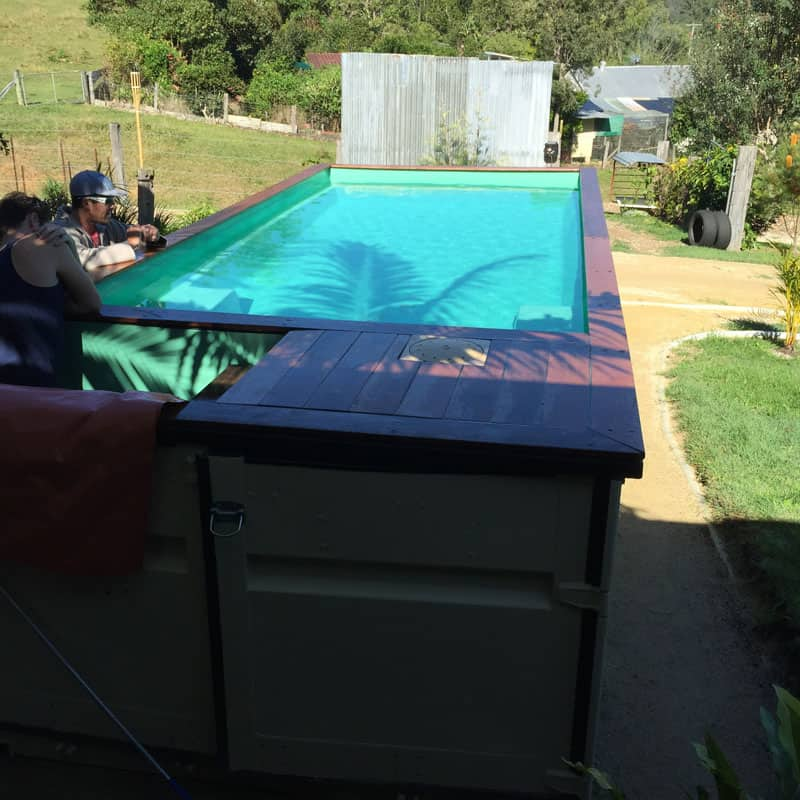 See shipping container swimming pools for sale and price for Above ground swimming pools uk