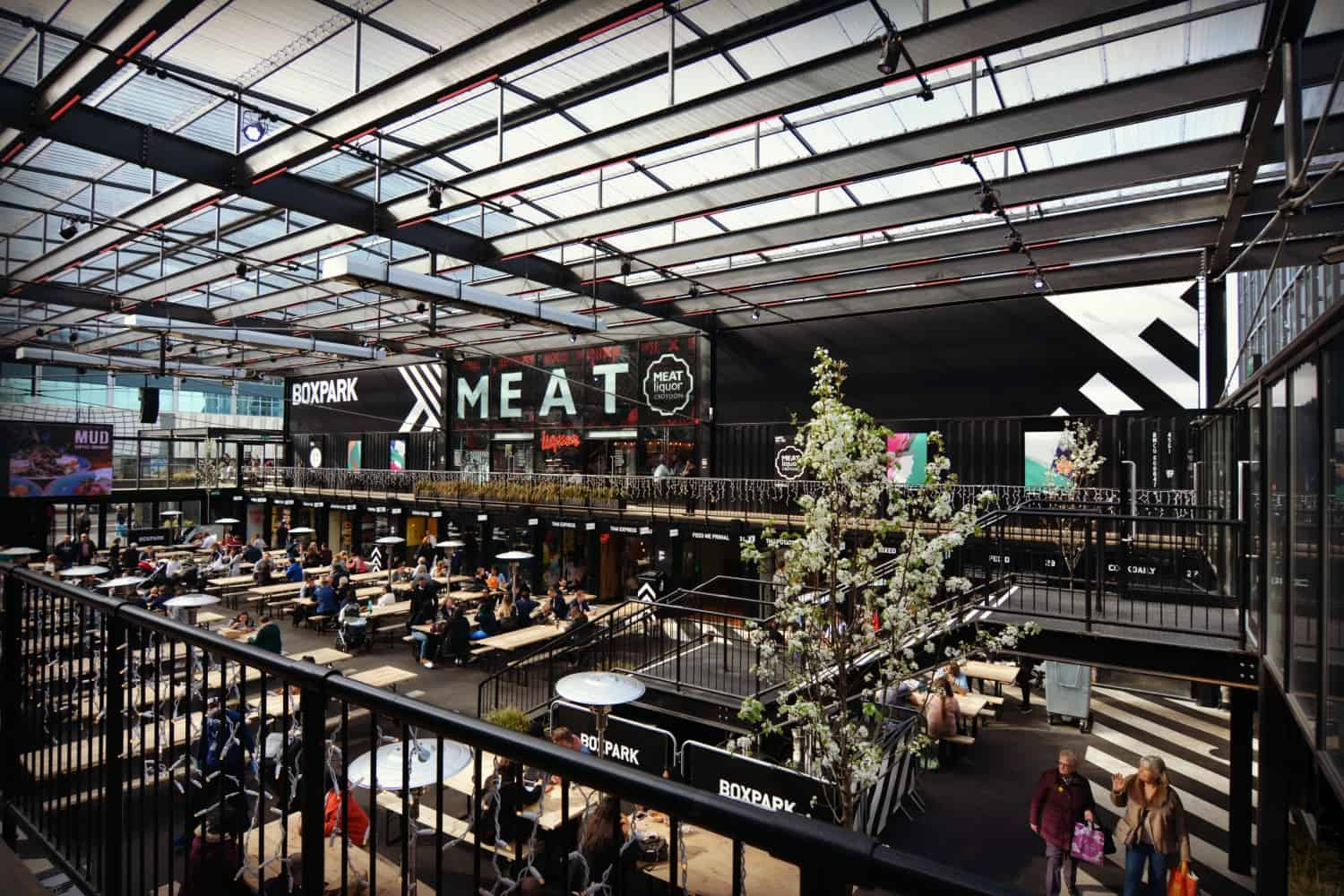BoxPark Croydon shipping container pop-up mall