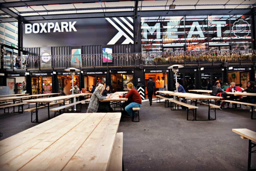BoxPark Croydon Pop-Up Mall Shipping Container Conversion