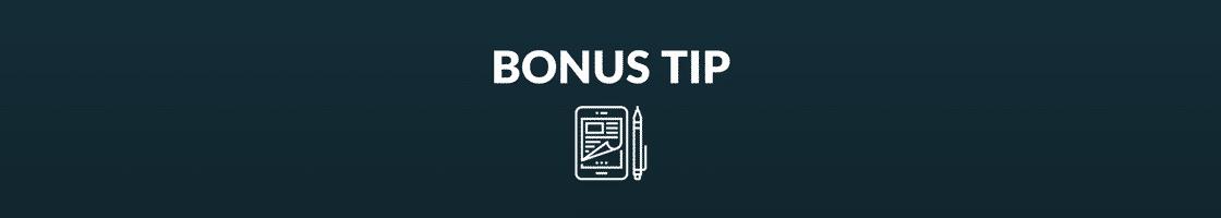 bonus tip banner