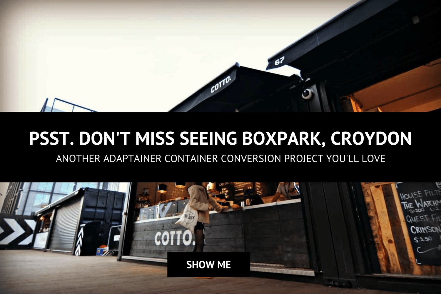 BoxPark mall Croydon container conversion